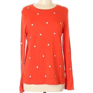 J. Crew Polka Dot 100% Cotton Pullover Sweater